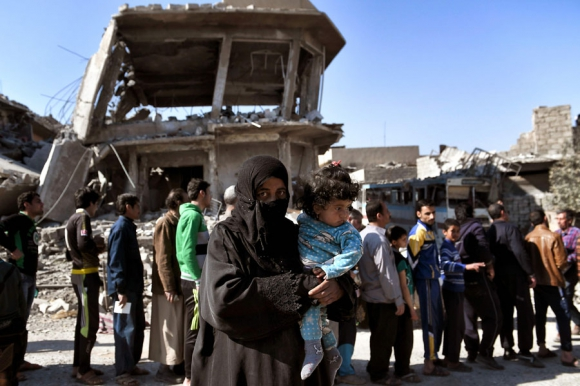 Tras seis años de guerra, el régimen sirio recupera zonas en poder de rebeldes. Foto: AFP
