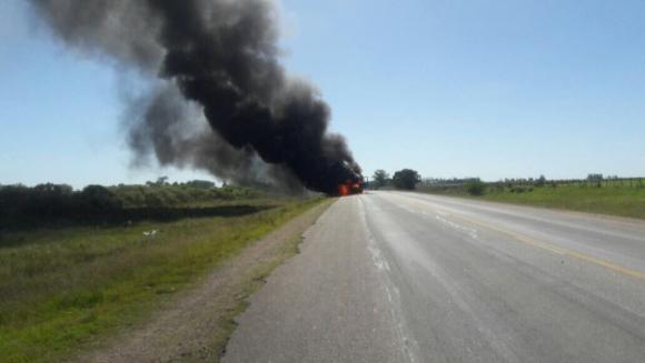 Accidente en ruta 5 de Durazno. Foto: Alternativa Durazno