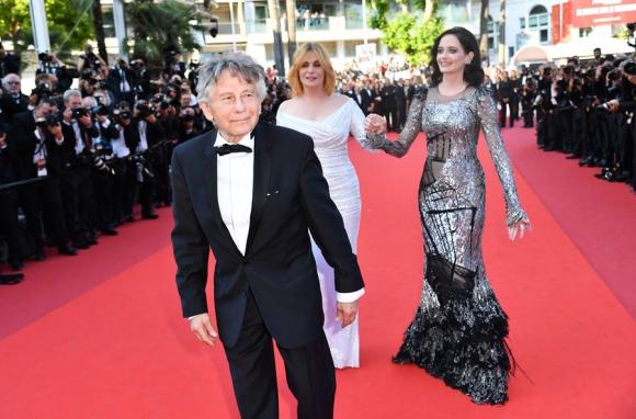 Roman Polanski en la alfombra de Cannes. Foto: AFP