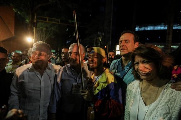 Expresidentes Pastrana, Chinchilla, Rodríguez y Quiroga el domingo. Foto: EFE