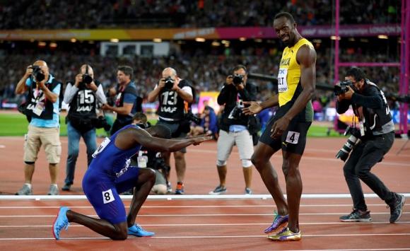La despedida de Usain Bolt de los 100 metros llanos en el Mundial. Foto: Reuters.