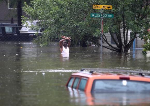 Houston: la cuarta ciudad de EE.UU. tiene zonas totalmente inundadas. Foto: AFP