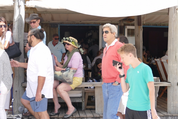 John Kerry disfruta sus vacaciones en Uruguay. Foto: Ricardo Figueredo