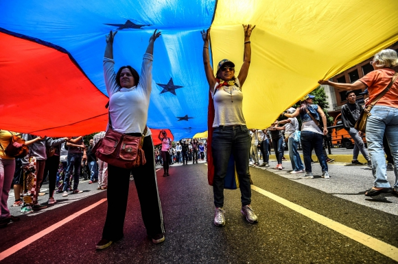 Venezuela marcha una vez más en contra del gobierno de Nicolás Maduro. Foto: AFP