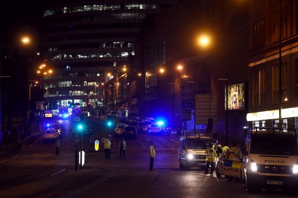 Explosión en Manchester. Foto: AFP