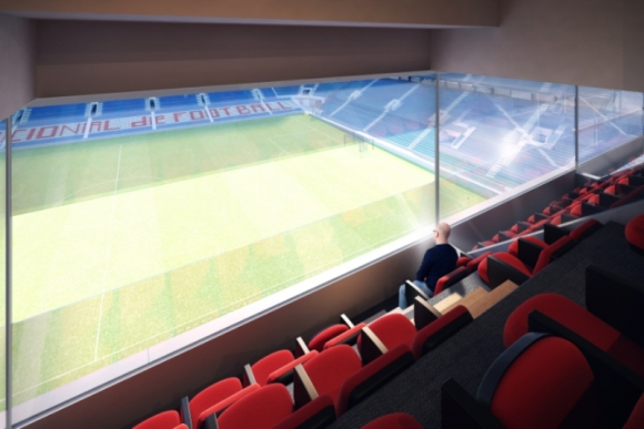 Así se verá el campo de juego desde los nuevos palcos