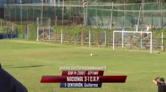 G.Centurión gol de arquero de arco a arco vs Los del 13