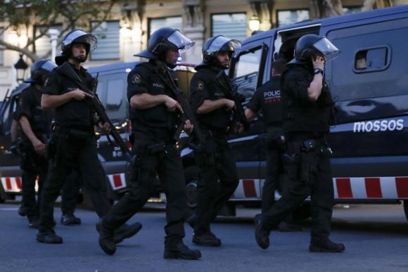 Ataque en Barcelona. Foto: AFP