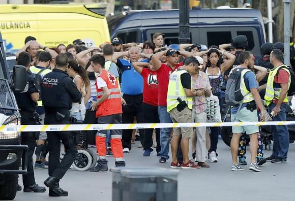 Ataque en Barcelona. Foto: EFE