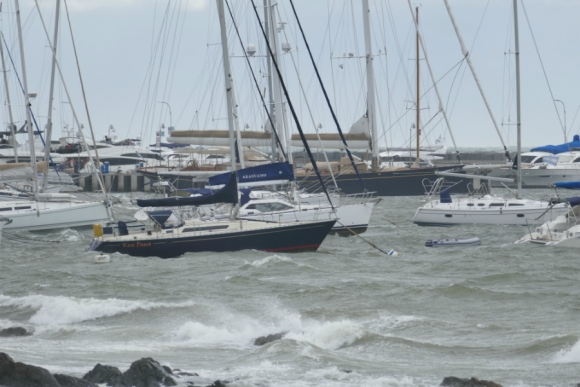 Punta del Este sufrió la violencia del viento. Foto: Ricardo Figueredo