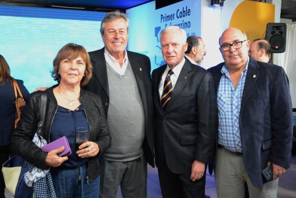 María Cristina Arca, Enrique Antía, Gustavo Delgado, Miguel Abella.
