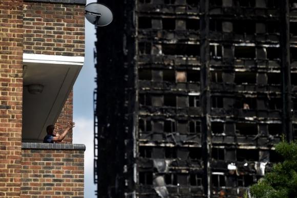 Así se ve la torre Grenfell tras el incendio. Foto: Reuters.