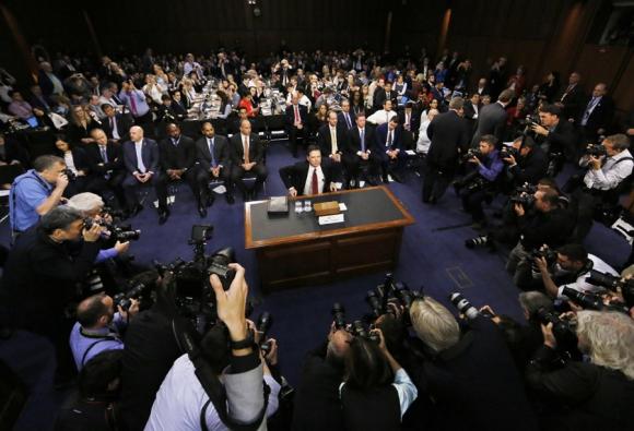 Comey, el exdirector del FBI ayer en comisión del Senado. Foto: Reuters