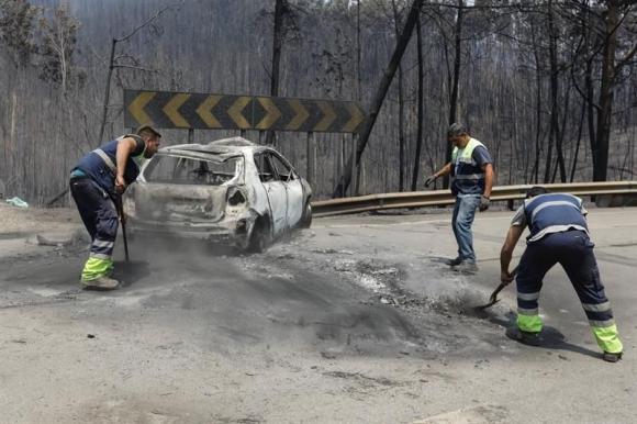 Incendio en Portugal. Foto: EFE