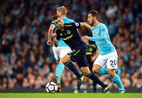 Manchester City y Everton empataron 1-1 en Premier League. Foto: EFE