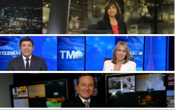 <b>NOTICIERO.</b><br>Subrayado (Canal 10)<br>Telemundo (Teledoce)<br>Telenoche (Monte carlo)