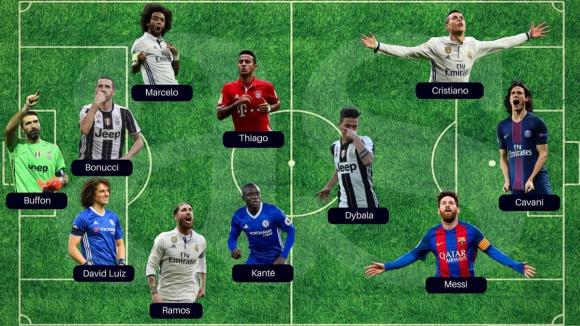 El once ideal de la revista World Soccer. Foto: AS