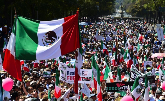 La marcha fue convocada a través de redes sociales. Foto: AFP