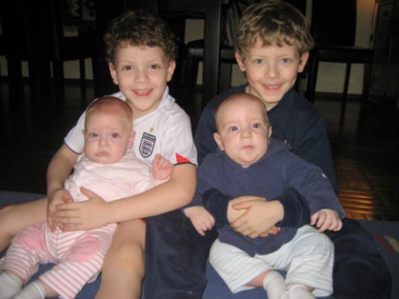 Nicolás, Martín, Florencia y Tomás.