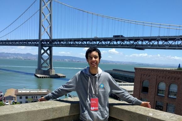 Ezequiel en la oficina de Google en San Francisco. Foto: Gentileza del entrevistado.