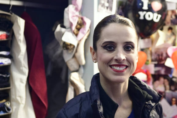 María Noel Riccetto en su primera función tras ganar el Benois. Foto: Darwin Borrelli