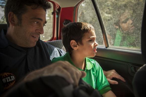 Antonio empezó segundo de escuela hace algunos días. Foto: Mariana Castiñeiras