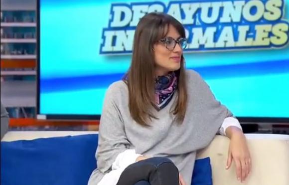 Lucía Brocal este lunes, en Desayunos informales
