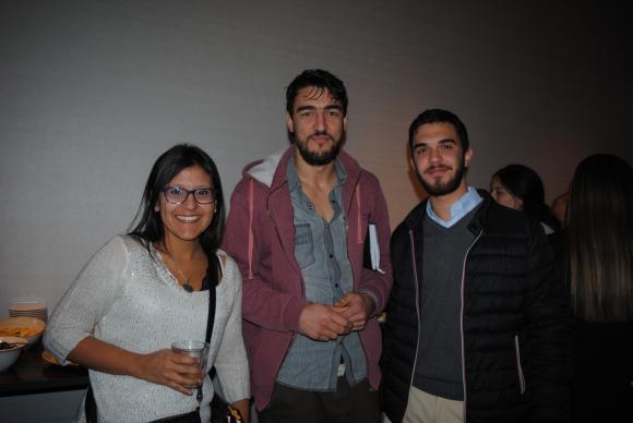 Virginia Sánchez, Fabián Bessonart, Nicolás Castelo.
