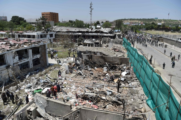 Enfrentamientos en Afganistan. Foto: AFP