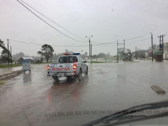 Inundaciones en Melo. Foto: Néstor Araújo