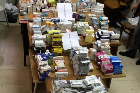 Intendencia de Montevideo incautó más de 2000 medicamentos. Foto: IMM