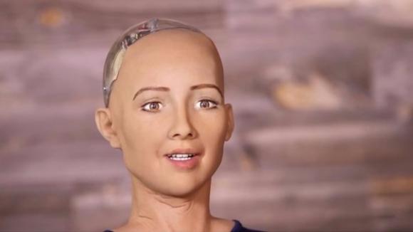 androide Sophia. Captura de pantalla