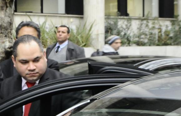 El embajador venezolano se retiró muy rápido de la Cancillería. Foto: D. Borrelli