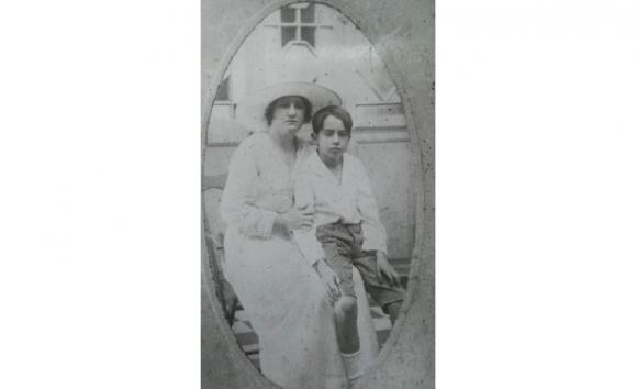 Panchita con Álex Barrett