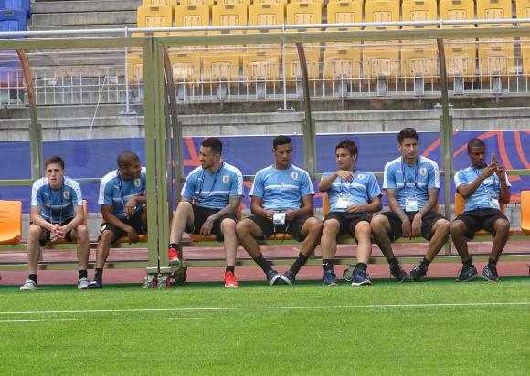 Selección Sub20 de Uruguay hizo reconocimiento de estadio. Foto: @Uruguay