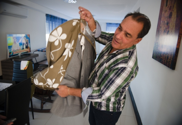 Vitette aún conserva el famoso traje con el que robó, que fue hecho en San José. Foto: F. Ponzetto