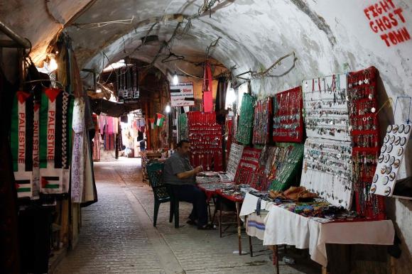 Hebrón, ciudad vieja de Al-Jalil en Palestina. Foto: AFP