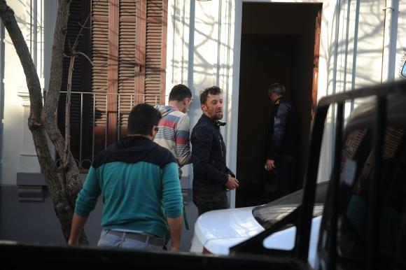 Uno de los procesados al ingreso al juzgado de San José. Foto: Fernando Ponzetto