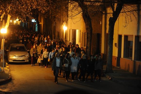 Marcha en San José de Mayo por asesinato de Susana Odriozola. Foto: Fernando Ponzetto