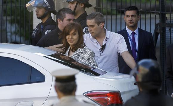 La expresidenta argentina en una de sus comparecencias judiciales. <br>Foto: La Nación GDA
