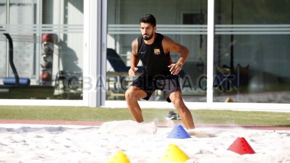 Así se recupera Luis Suárez de la lesión de ligamentos. Foto: FC Barcelona