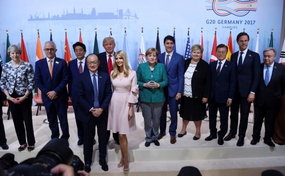 Encuentro: un momento en la Cumbre del G20, en Hamburgo. Foto: Reuters