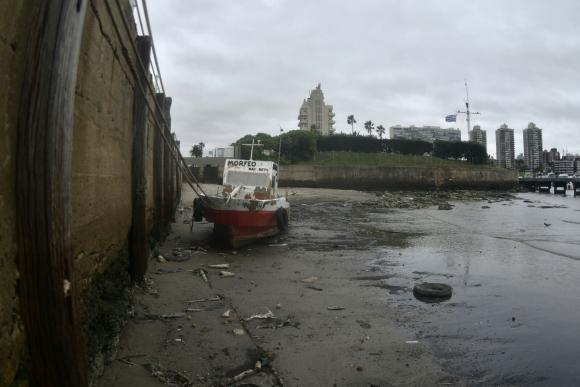 Bajante en las costas de Montevideo. Foto: Fernando Ponzetto