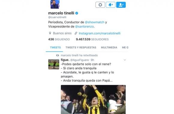 El video retwitteado por Tinelli