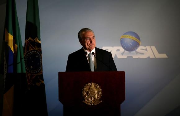 Temer compareció y dijo que no compró ningún silencio. Foto: Reuters