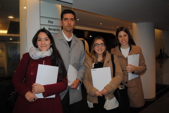 María de Marco, Alejandro San Martín, Lucía Palacios, Lucía Canclini.