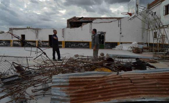 El club Peñarol de Dolores permanece destruido. Foto: Daniel Rojas.