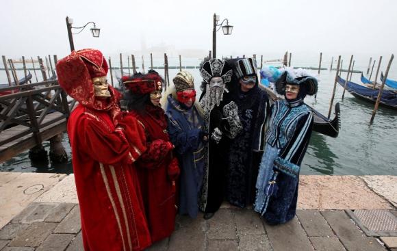 Carnaval en Venecia. Foto: Reuters