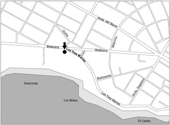 Mapa con la ubicación exacta de los lotes a rematar.