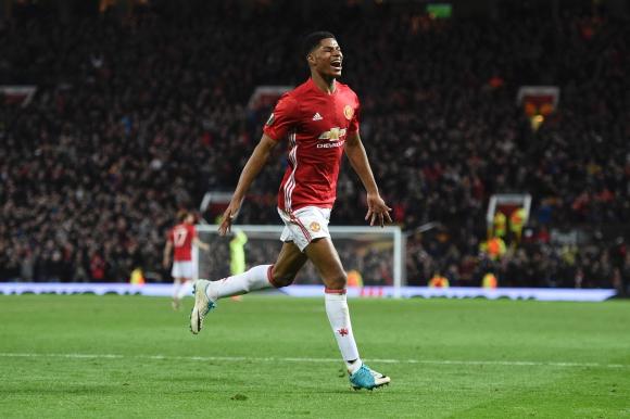 Marcus Rashford anotó el tanto del triunfo para el United ante Anderlecht. Foto: AFP